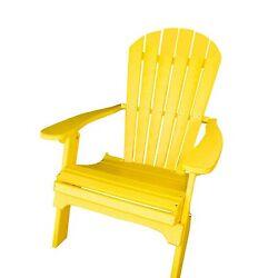 Phat Tommy Recycled Poly Resin Folding Adirondack Chair – Durable and Patio