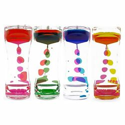 Liquid Bubbler Motion Timer Traditional Style Colorful Hourglass Fidget Kids Toy $21.95