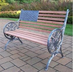 Oakland Living American Eagle 24-in W x 50-in L Antique Pewter Patio Bench