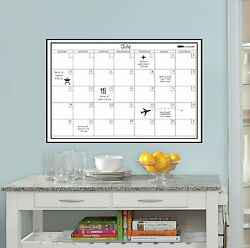 Wall White Board Monthly Calendar Planner Peel Stick Dry Erase Marker Office 24quot; $18.85