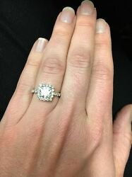Palladium Verragio Diamond Engagement Ring! INS-7047 1.00-carat Hearts on Fire