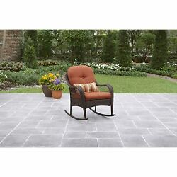 Patio Outdoor Furniture Garden Porch Pool Rocking Chair Rust and Water Resistant