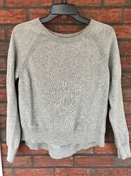 Banana Republic Medium Gray Silver Italian Yarn Sparkle Thread Cashmere Wool
