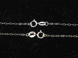 Solid 10K Yellow Gold  White Gold Fancy Cable Chain Necklace Real 10 Karat Gold $36.99