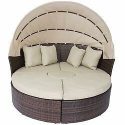Luxury Rattan Wicker Patio Furniture Garden Outdoor Daybeds SUN LOUNGER Daybed