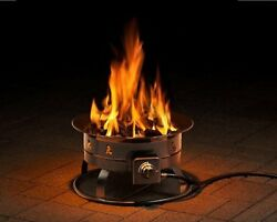 Outdoor Fire Pit Propane LP Portable Patio Backyard Camping Gas Firepit Heater