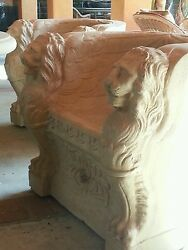 Michael Taylor chairs Carved Stone LYON 6  available per chair $850.00