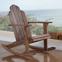 Adirondack Rocking Chair Acacia Wood Rocker Patio Outdoor Indoor Deck Teak