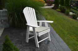 A & L Furniture Recycled Plastic Upright Adirondack Chair