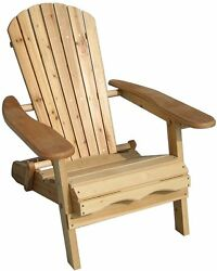 Folding Outdoor Chair Patio Wood Foldable Garden Adirondack Camping Lawn Porch