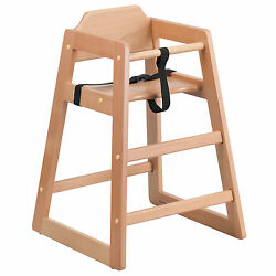 Flash Furniture Hercules Series Stackable Natural Baby High Chair
