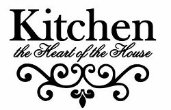 Kitchen The Heart Of The House Vinyl Wall Art Decal Removable Ships FREE $8.18