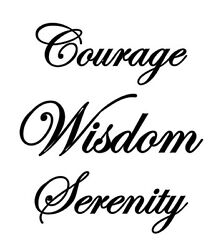 Courage Wisdom Serenity Home Vinyl Wall Art Decal Removable Rehab Counseling