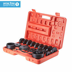23 PCs Front Wheel Drive Bearing Removal Adapter Puller Pulley Tool Kit WCase $55.87