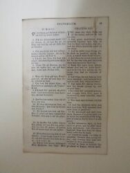 1850 Leaf from the First New Testament in Swedish Printed in America
