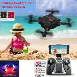 FQ777 FQ17W WIFI FPV Foldable Pocket Drone With 0.3MP Camera Altitude Hold Mode $45.94