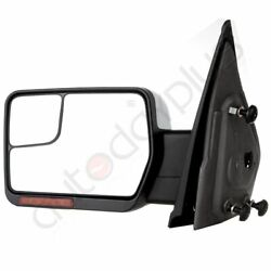 Driver Chrome Left Side Mirror Power Heated Signal Light For 2007-14 Ford F-150 $66.35