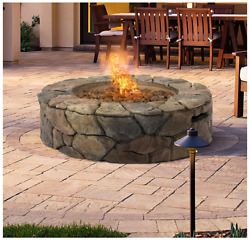 Patio Fire Pit Stone Design Gas Outdoor Fireplace Home with Firepit Cover Best