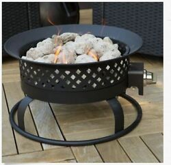 Outdoor Propane Fire Pit Portable Deck Patio Backyard Camping Gas Round Small