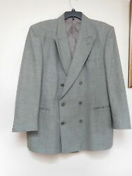 SOCRATE Suit Jacket Size 44R-Made in Italy Merino Extra Fine Wool 100 Super-Used
