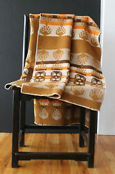 Antique Jacobs Oregon City Genuine Woven Wool Trade Robe Blanket 69