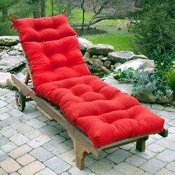 Lounge Chair Cushion Outdoor Seat Padding Chaise Mattress Tufted Pool Patio Deck