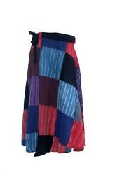Patchwork Cotton Wrap Around Skirt Dress Hippie Hobo Gypsy Handmade Nepal XS-XL $29.90