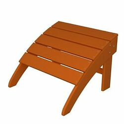 POLYWOOD South Beach Tangerine Plastic Ottoman Home Patio Furniture Outdoor