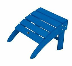 POLYWOOD South Beach Pacific Blue Plastic Ottoman Home Patio Furniture Outdoor