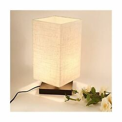 ZEEFO Simple Table Lamp Bedside Desk Lamp With Fabric Shade and... Free Shipping