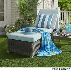 Pool Chaise Lounge Chair Outdoor Cushion Seat Adjustable Back Rest Sun Bathing