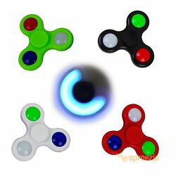 LED Light Up Fidget Hand Spinner Toy Anxiety Stress Reliever Focus EDC ADHD New $3.99