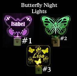 Personalized Butterfly Night Light - Lamp - Gift for Mom - Personalized