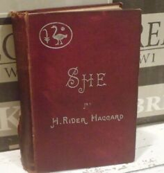 SHE - A History of Adventure Haggard H. Rider 1888  Vintage  Collectable -TBLO