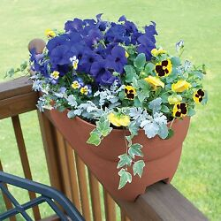 Railing Planters Deck Patio Porch Outdoor Balcony Rail Flower Pot Box  24