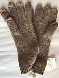 NEW UGG Women Wool Cashmere Women Gloves Taupe One Size Winter