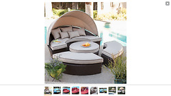 Rendezvous All-Weather Wicker Sectional Daybed Patio Furniture Pool Side Beach