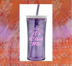 Monogram Vinyl Decal for Your Tumbler Cups Rambler Its All About Me Quote Girls