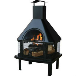 Portable Outdoor Fireplace Wood Burning With Free Cover Backyard FirePit Chimney