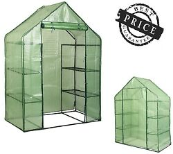 Walk In 8 Shelves Greenhouse Portable Mini Outdoor 4 Tier Green House Plant