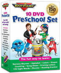 10 DVD Preschool Set by Rock 'N Learn (New)