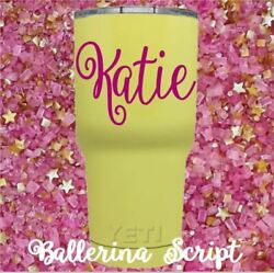 Monogram Vinyl Decal for your Tumbler Cups Rambler Personalized Name Decal Girls