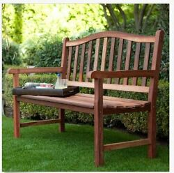 Outdoor Patio Bench Wooden Garden Seat Wood Deck Yard Park Bench Porch 4 Ft NEW