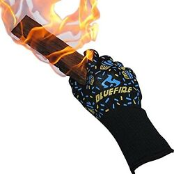 BlueFire Pro Oven Gloves BBQ Gloves ? Grilling Big Green Egg and Fireplace