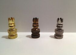 Lamp Parts LAMP FINIAL BASE 6 Prong Solid Brass **1 4 27** 1 PC. 3 Finishes $4.79