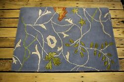 MODERN  2'x3' HAND-TUFTED WOOLVISCOSE MULTI-USE AREA  ACCENT RUG STUDY DEN 1946