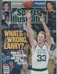 1989 Sports Illustrated LARRY BIRD cover Mint NO LABEL Celtics