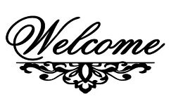 Welcome Vinyl Wall Door Art Decal Removable You Choose Color & Size $7.76