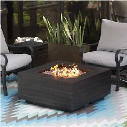 Patio Fire Pit Table Outdoor Gas Fireplace Propane Heater Cover Deck Furniture!!