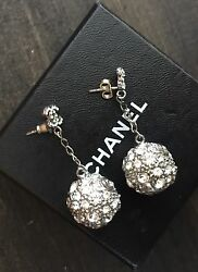 authentic chanel crystal vintage drop earrings $375.00